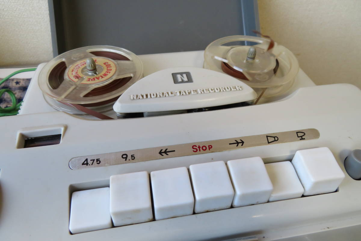 National Tape Recorder 型番不明 1960年代 ナショナル テープレコーダー_画像2