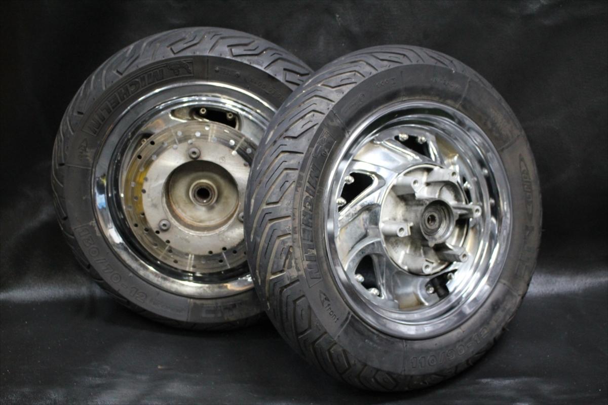 ★売切★ヤマハ マジェスティ250 SG03J 純正 タイヤ前後セット 8部山 まだまだ使用できます。TB1681