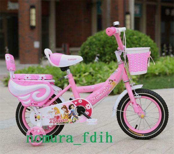 超人気☆子供用自転車 補助輪付き カゴ付き 組み立て式 12-18インチ 2-8歳 サイズ選択可 z-097