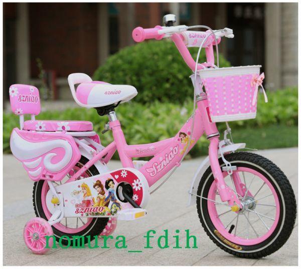 超人気☆子供用自転車 補助輪付き カゴ付き 組み立て式 12-18インチ 2-8歳 サイズ選択可 z-097_画像3