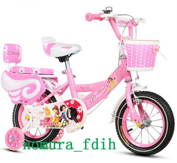 超人気☆子供用自転車 補助輪付き カゴ付き 組み立て式 12-18インチ 2-8歳 サイズ選択可 z-097_画像9