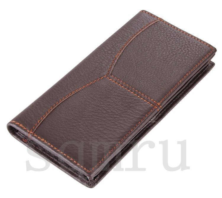 極上 高級牛革 男性用 二つ折り メンズ長財布 本革 ロング財布 薄型 軽量 札入れ カード入れ 紳士用 彼氏への贈り物A062-A