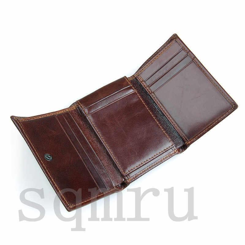 収納力抜群!小銭入れ 男女兼用 二つ折り メンズ財布 最高級牛革 縦型短財布 多機能 札入れ カード入れ スキミング防止A055-C_画像4