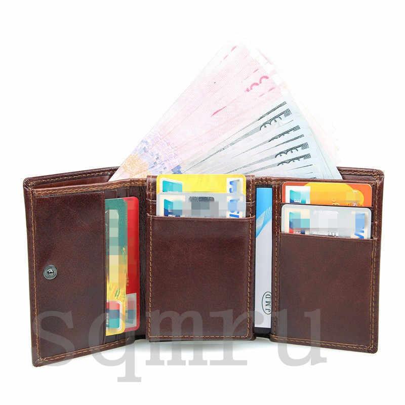 収納力抜群!小銭入れ 男女兼用 二つ折り メンズ財布 最高級牛革 縦型短財布 多機能 札入れ カード入れ スキミング防止A055-C_画像7