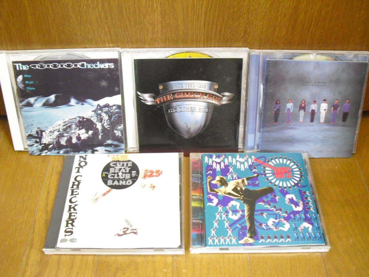 CD 5枚セット チェッカーズ THE OTHER SIDE OOPS!円高差益還元ライブ CUTE BEAT CLUB BAND Blue Moon Stone I HAVE A DREAM/藤井フミヤ_画像1