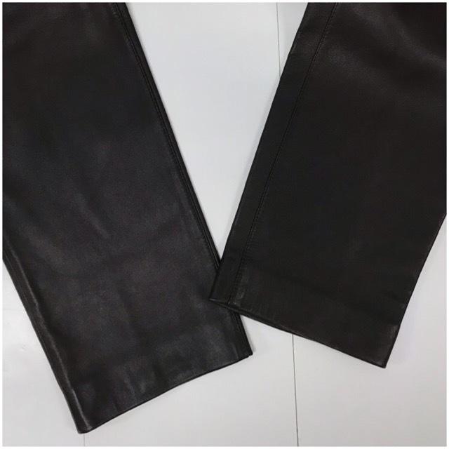 LOEWE/ロエベレザーパンツ/leather Pants/メンズ/オム/ブラウン/茶色/ラムレザー/本革/44/スペイン製/4993_画像6