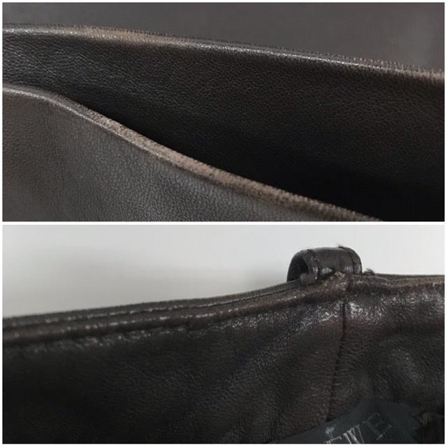 LOEWE/ロエベレザーパンツ/leather Pants/メンズ/オム/ブラウン/茶色/ラムレザー/本革/44/スペイン製/4993_画像7