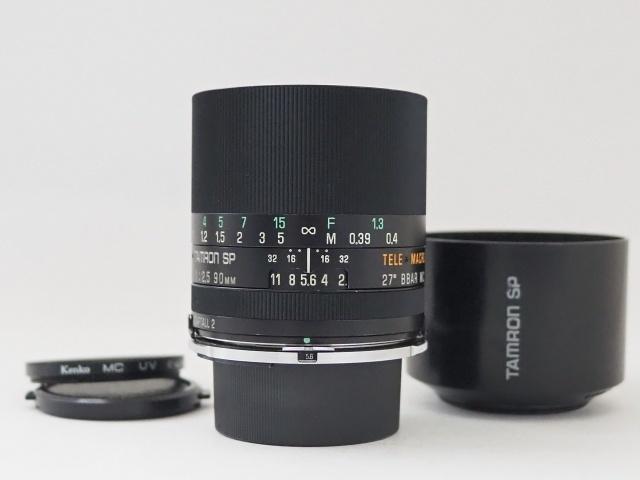 タムロン TAMRON SP 90mm f2.5 52B ニコン用 Ai マクロレンズ レンズフード付き☆