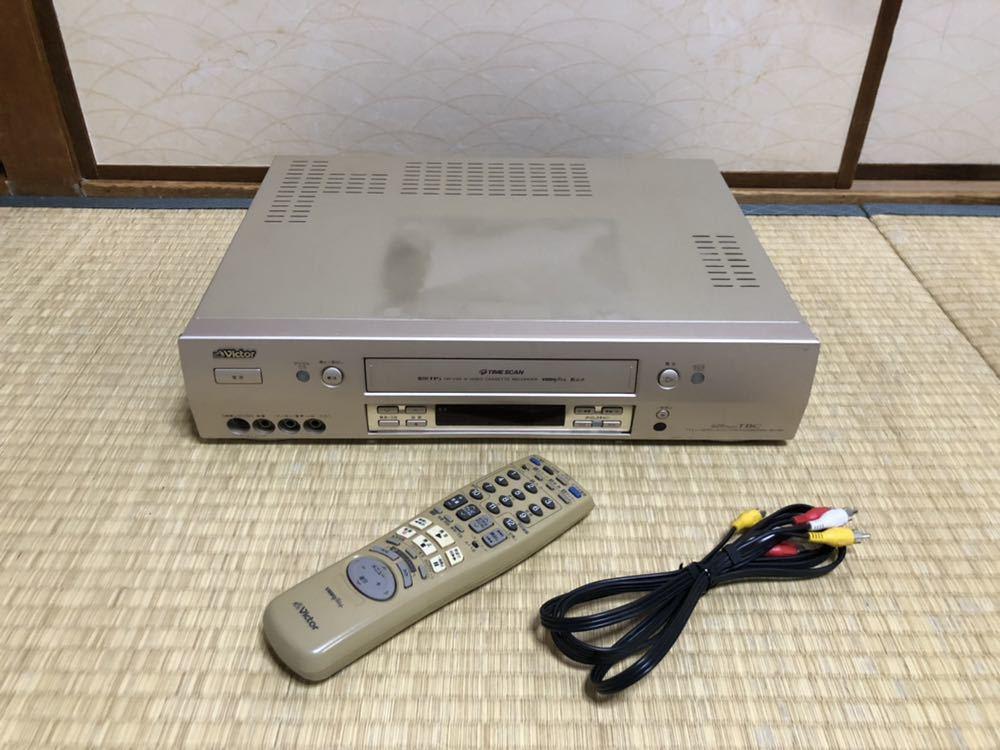 Victor ビクター HR-VX8 S-VHS ビデオデッキ リモコン付 ビデオカセットレコーダー ジャンク扱い