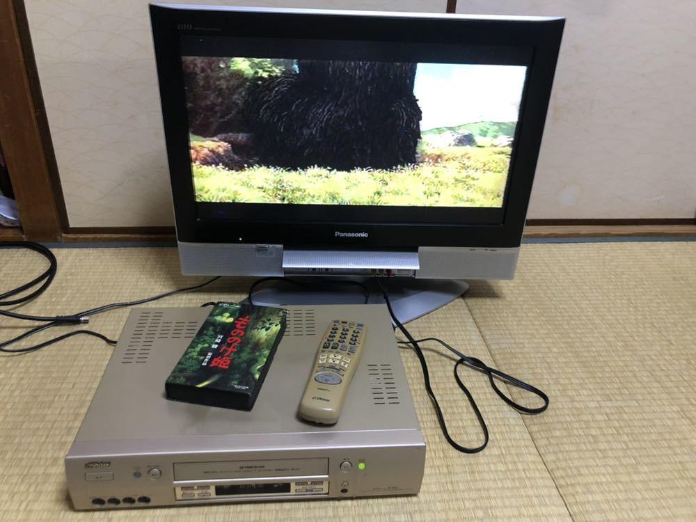 Victor ビクター HR-VX8 S-VHS ビデオデッキ リモコン付 ビデオカセットレコーダー ジャンク扱い_画像3