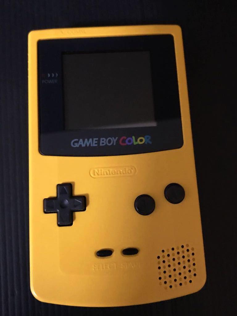 ★GBC★ゲームボーイカラー イエロー CGB-001 ★任天堂 Nintendo COLOR★動作品★_画像1