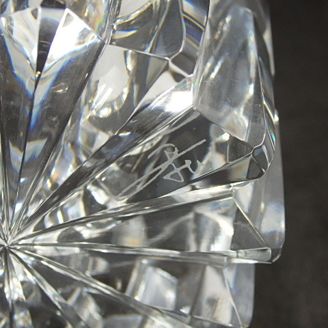 G18918 HOYA OLD FASHIONED GLASS ホヤ オールドファッショングラス リミテッドエディション ロックグラス 箱あり_画像6
