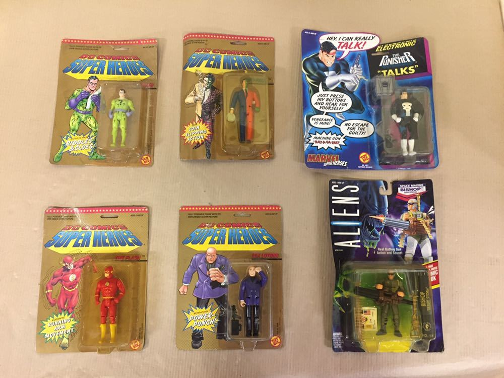 ◯ 1989年 当時物 TOYBIZ DC COMICS SUPER HEROES MARVEL ALIENS THE FLASH TWO-FACE 含む フィギュア6点セット アメコミ