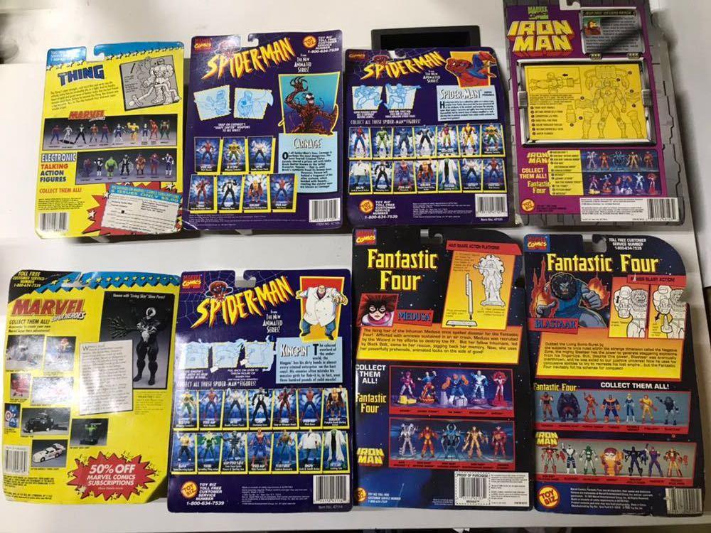 ♪ MARVEL SUPER HEROES MARVEL COMICS スパイダーマン 4Fantastic Four アイアンマン 含む 8個おまとめ _画像4