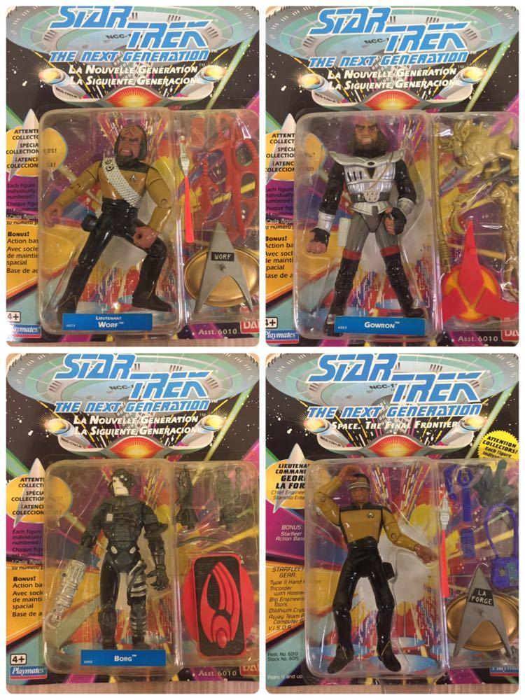◯ 1993年物 BANDAI Playmates STAR TREK スタートレック フィギュア 9体 セット アメコミ SF 映画_画像3
