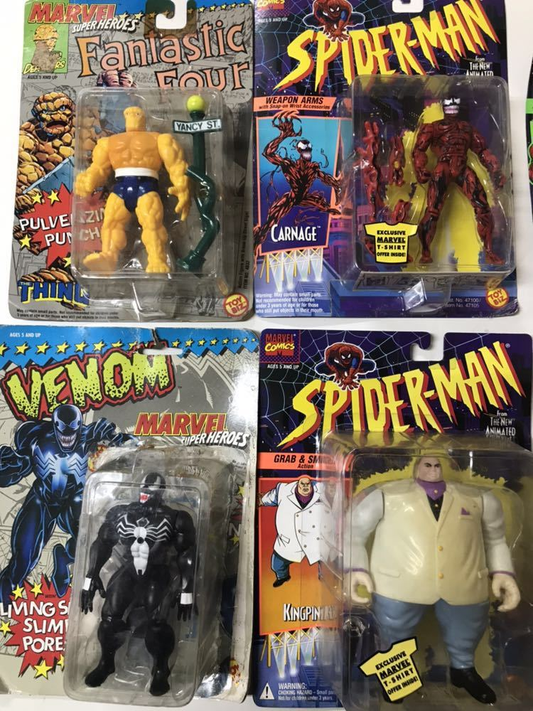 ♪ MARVEL SUPER HEROES MARVEL COMICS スパイダーマン 4Fantastic Four アイアンマン 含む 8個おまとめ _画像2