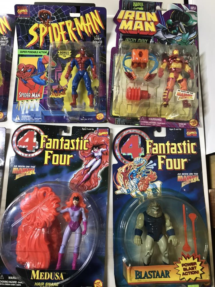 ♪ MARVEL SUPER HEROES MARVEL COMICS スパイダーマン 4Fantastic Four アイアンマン 含む 8個おまとめ _画像3