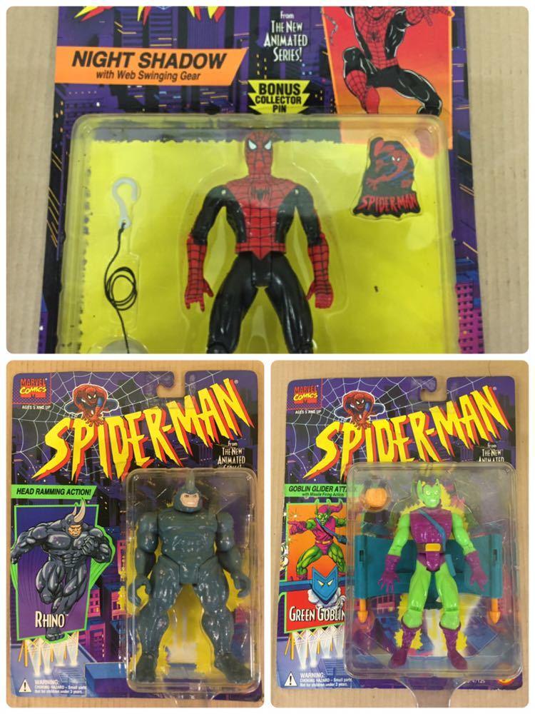 ◯ 1994年 ~ 96年 当時物 TOYBIZ MARVEL SPIDER MAN フィギュア 6体 セット アメコミ_画像3