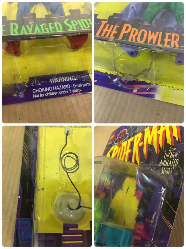 ◯ 1994年 ~ 96年 当時物 TOYBIZ MARVEL SPIDER MAN フィギュア 6体 セット アメコミ_画像5