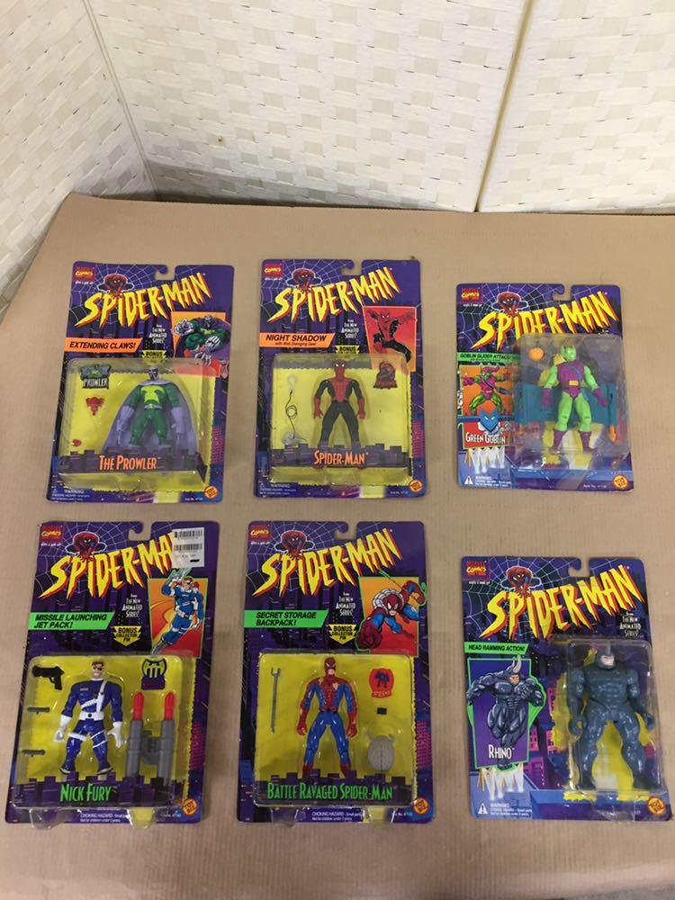 ◯ 1994年 ~ 96年 当時物 TOYBIZ MARVEL SPIDER MAN フィギュア 6体 セット アメコミ