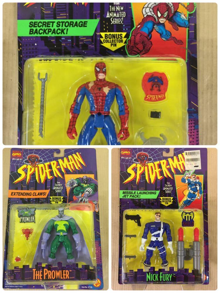 ◯ 1994年 ~ 96年 当時物 TOYBIZ MARVEL SPIDER MAN フィギュア 6体 セット アメコミ_画像4