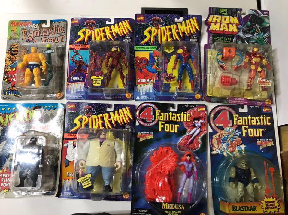 ♪ MARVEL SUPER HEROES MARVEL COMICS スパイダーマン 4Fantastic Four アイアンマン 含む 8個おまとめ