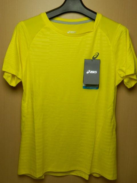 asicsアシックス ランニングシャツ W'S fuzeX SS TOP 142567 イエロー/Mサイズ