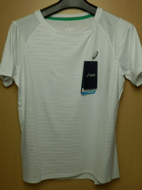 asicsアシックス ランニングシャツ W'S fuzeX SS TOP 142567 ホワイト/Lサイズ_画像1