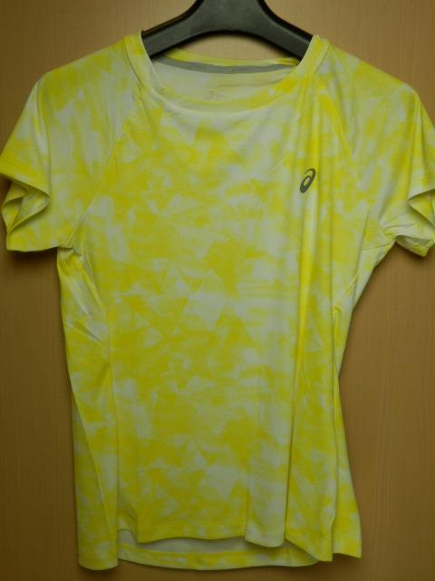 asicsアシックス ランニングシャツ W'S fuzeX AOP SS TOP 142563  ホイップイエロー/Mサイズ_画像1