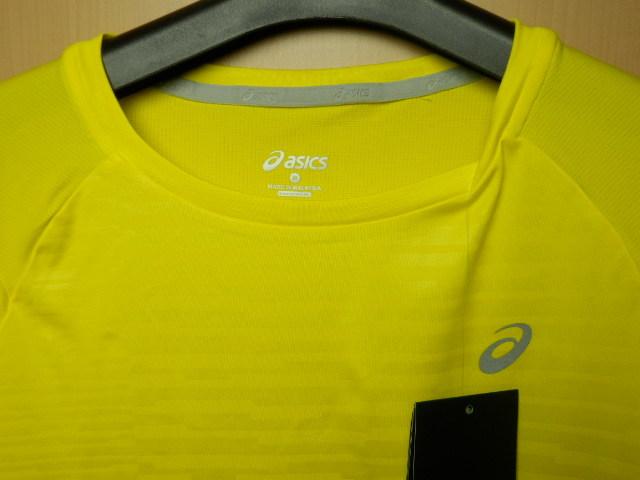 asicsアシックス ランニングシャツ W'S fuzeX SS TOP 142567 イエロー/Mサイズ_画像2