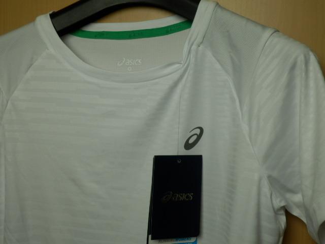 asicsアシックス ランニングシャツ W'S fuzeX SS TOP 142567 ホワイト/Lサイズ_画像2