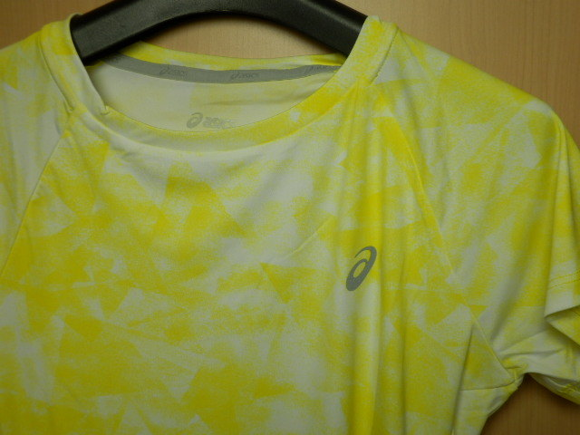 asicsアシックス ランニングシャツ W'S fuzeX AOP SS TOP 142563  ホイップイエロー/Mサイズ_画像2