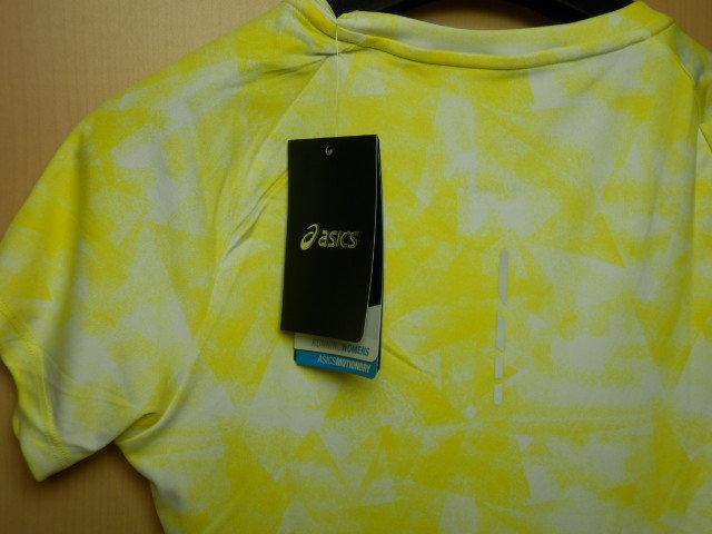 asicsアシックス ランニングシャツ W'S fuzeX AOP SS TOP 142563  ホイップイエロー/Mサイズ_画像4