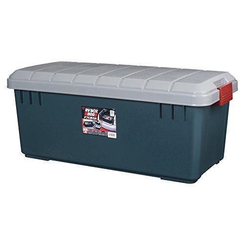 アイリスオーヤマ ボックス RVBOX 800 グレー/ダークグリーン 幅78.5x奥行37x高さ32.5cm B558