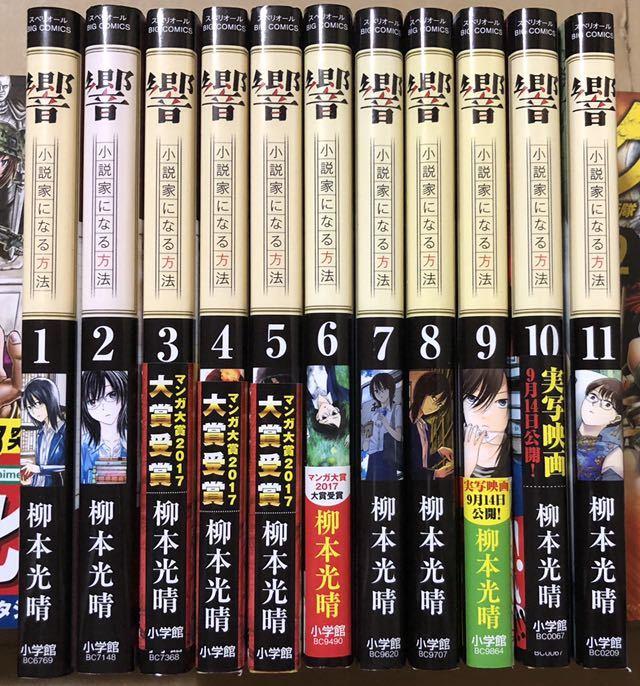 柳本光晴 響 小説家になる方法 1~11既刊全巻 送料500円