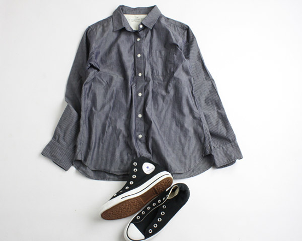 100円スタート!!MUJI 無印良品 長袖シャツ チュニック 大きいサイズ XL 大きいサイズ 0613bu04