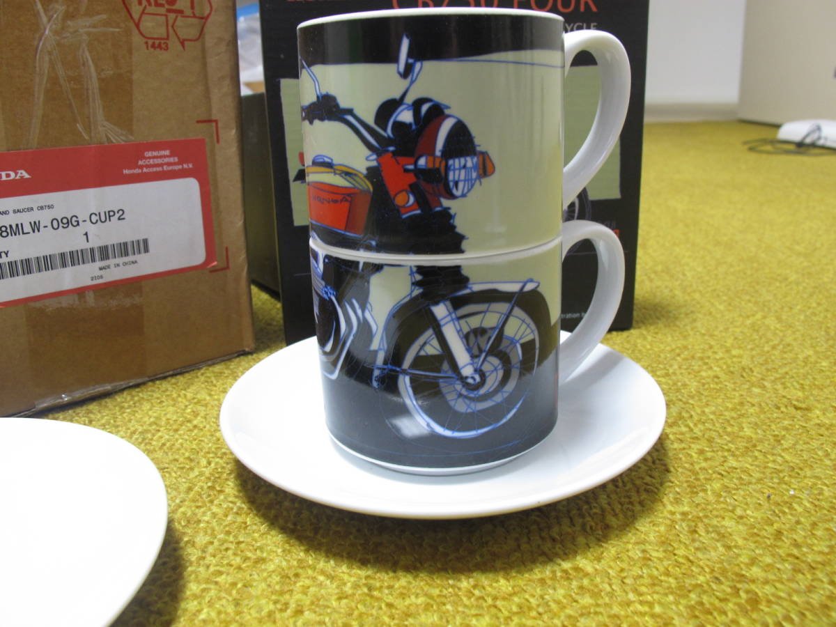 Honda CB750 マグカップセット ヨーロッパホンダ 純正グッツ 国内未発売 珍品 08MLW-09G-CUP2 以下は検索語 CB750 K0 K1 砂型 _画像2