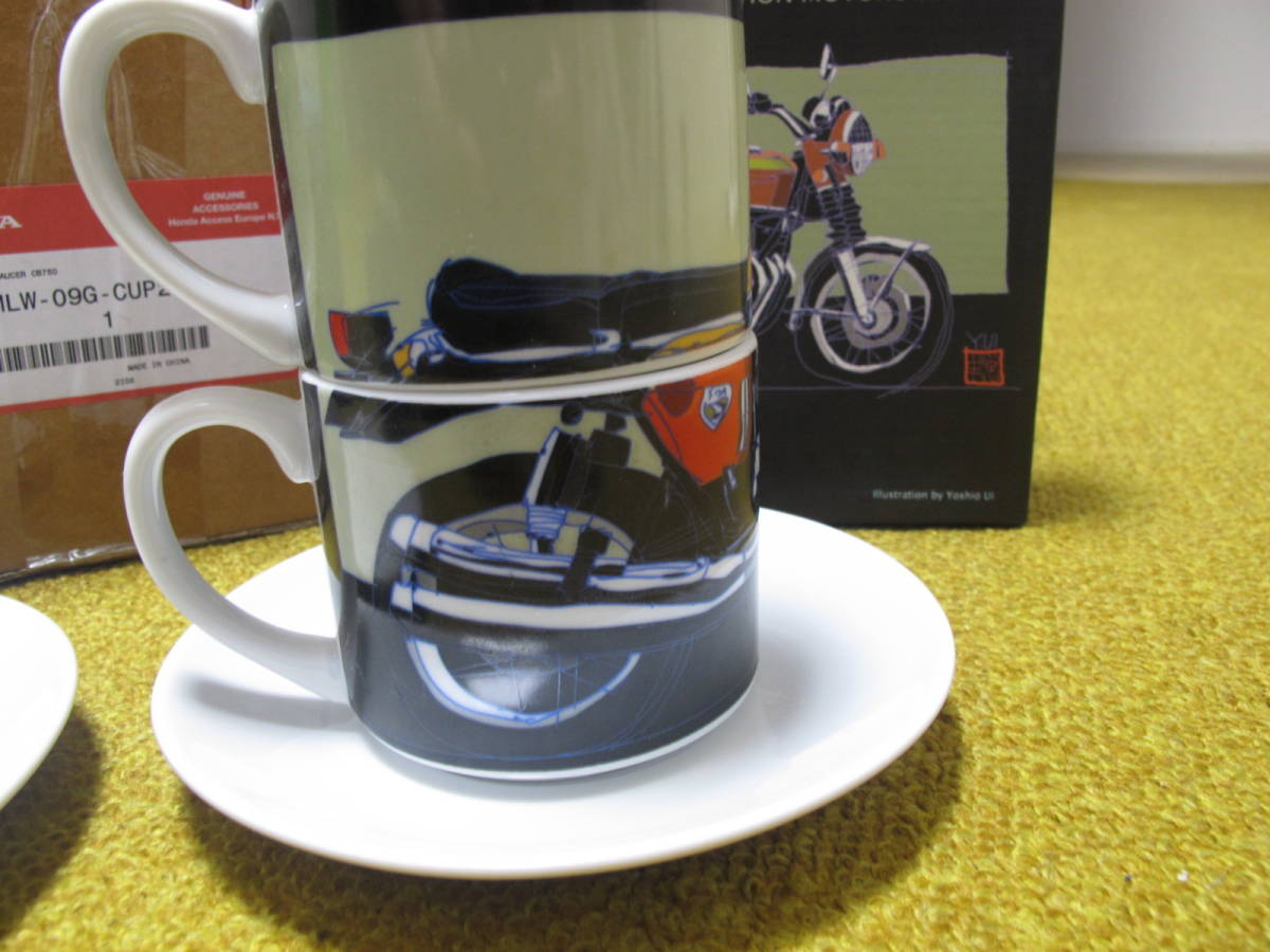 Honda CB750 マグカップセット ヨーロッパホンダ 純正グッツ 国内未発売 珍品 08MLW-09G-CUP2 以下は検索語 CB750 K0 K1 砂型 _画像4