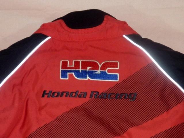 ホンダ・レーシング/HRC ライディング・ジャケット L 黒/赤_画像4