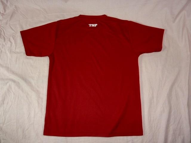 TSP 卓球ラケット 速乾 Tシャツ M 赤_画像3