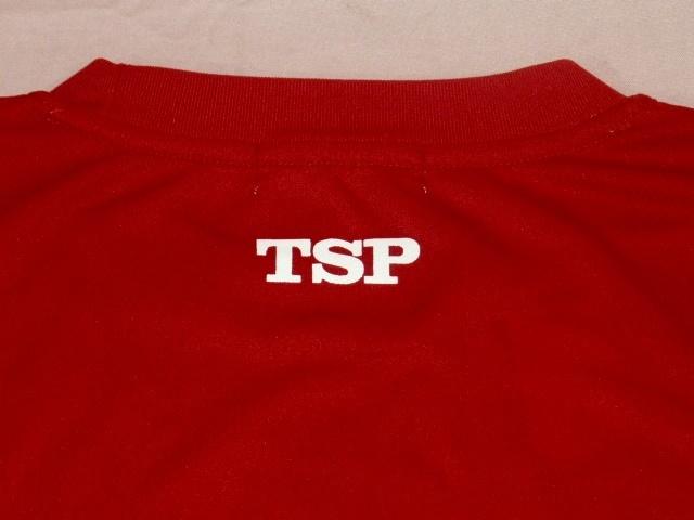 TSP 卓球ラケット 速乾 Tシャツ M 赤_画像4