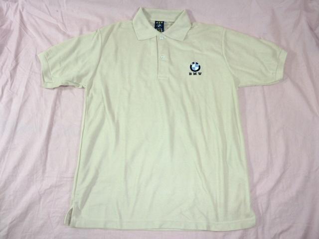 BMW 鹿の子ポロシャツ L ベージュ