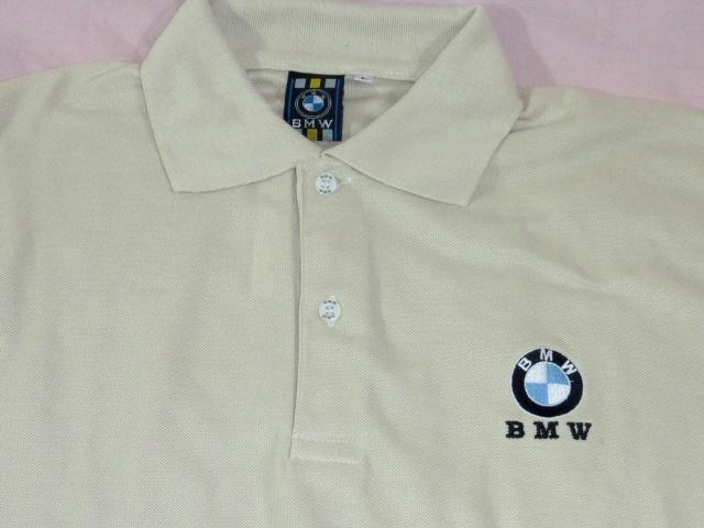 BMW 鹿の子ポロシャツ L ベージュ_画像2