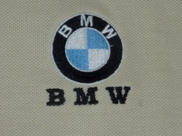 BMW 鹿の子ポロシャツ L ベージュ_画像3