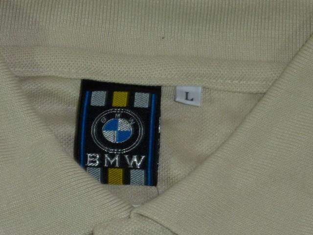 BMW 鹿の子ポロシャツ L ベージュ_画像4