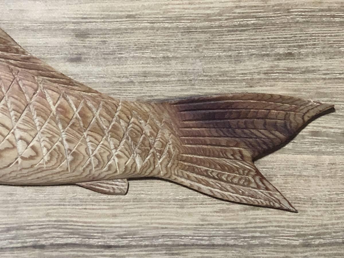 木彫額 蔵前木彫師三代松本重明 作 双魚 昭和44年 極美品  J0605F_画像9