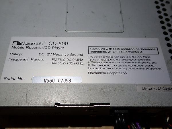 ナカミチ CD-500 CD MP3_画像5
