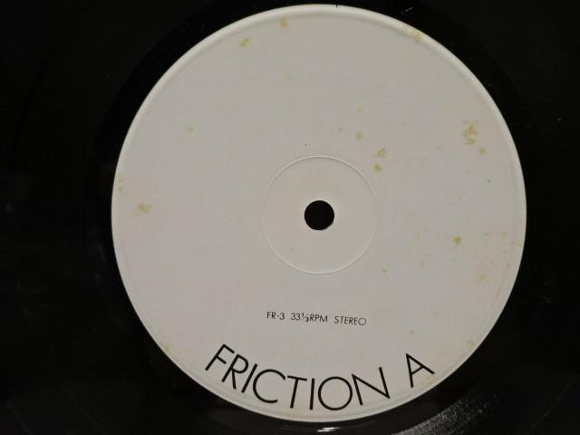 激レア 自主盤 フリクション friction 1979 LIVE ed. 1st 軋轢 発売直線のライブ録音盤 org.orig._画像3