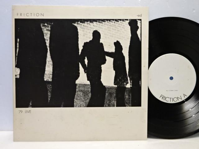 激レア 自主盤 フリクション friction 1979 LIVE ed. 1st 軋轢 発売直線のライブ録音盤 org.orig.