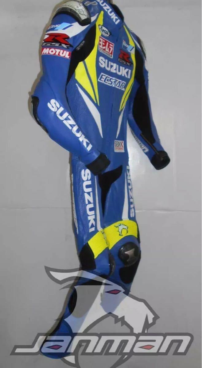 GSX-R ECSTAR エクスター motogp レーシングスーツ 革ツナギ ワンピース レザースーツ 各サイズ SBK_画像3